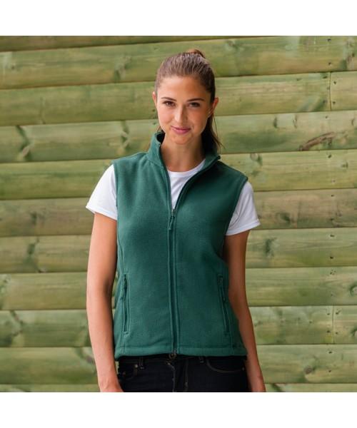 Plain Fleece Gilet Ladies Outdoor Russell 320 GSM
