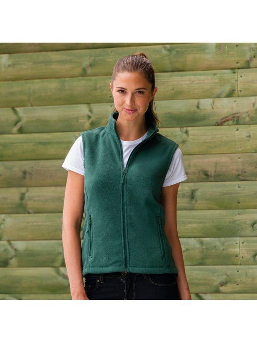 Plain Fleece Gilet Ladies Outdoor Russell 320 GSM