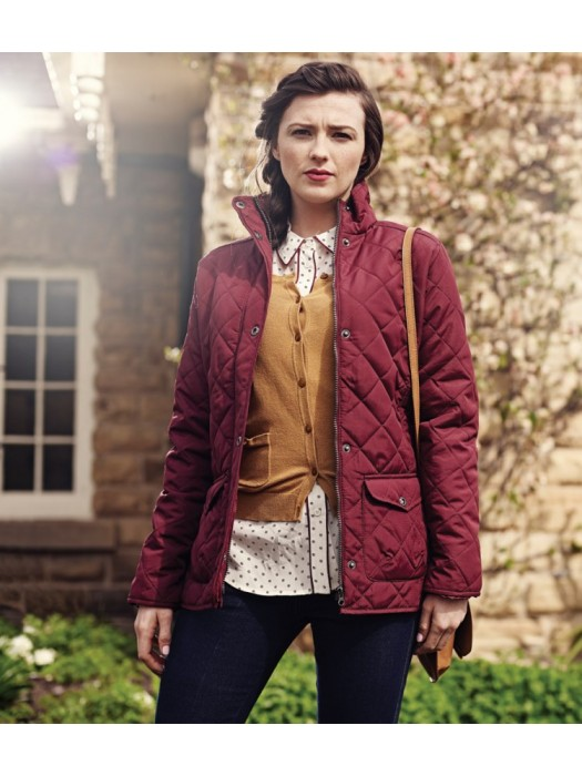 Plain Jacket Ladies Quilted Tarah Regatta