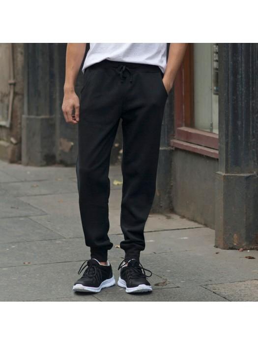 Plain Jog Pants Men Slim Cuffed Skinnifit 250 GSM