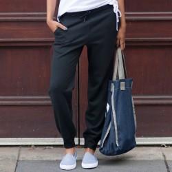 Plain Jog Pants Ladies Cuffed Skinnifit 250 GSM