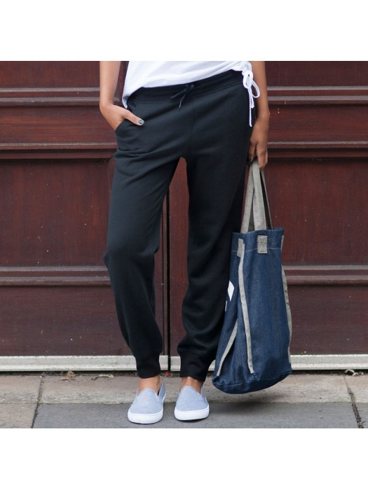 Plain Jog Pants Ladies Cuffed Skinnifit 250 GSM