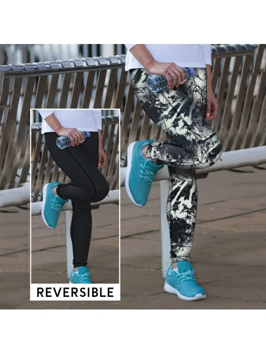 Plain Leggings Reversible Work Out Skinnifit 270 GSM
