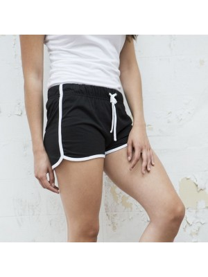 Plain Shorts Ladies Retro Skinnifit 220 GSM