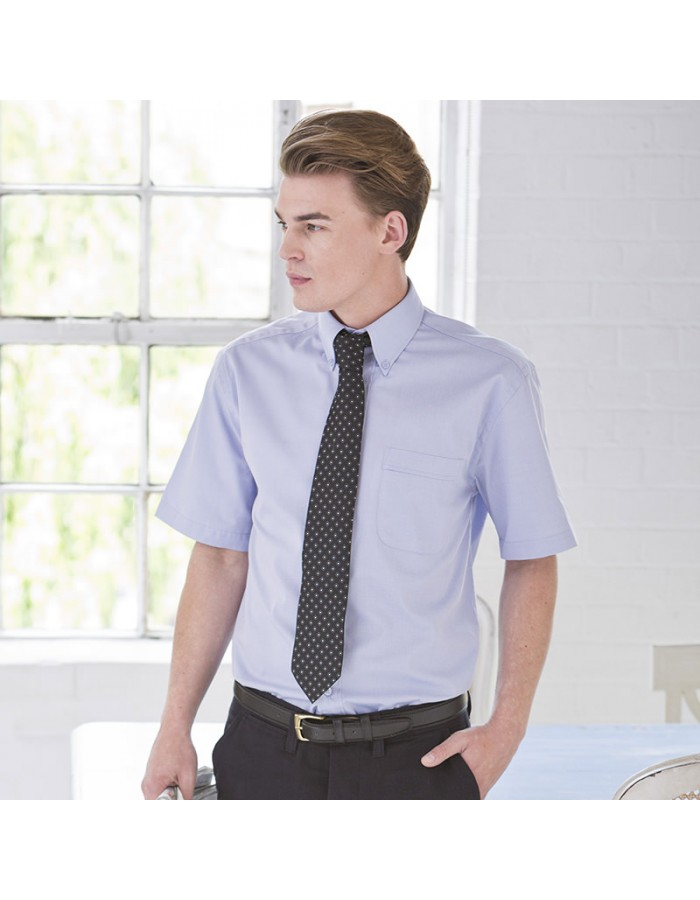 Plain Shirt Short Sleeve Oxford Henbury 130 GSM