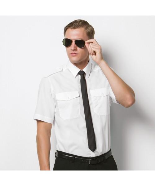 Plain Pilot Shirt Short Sleeve Kustom Kit 105 GSM