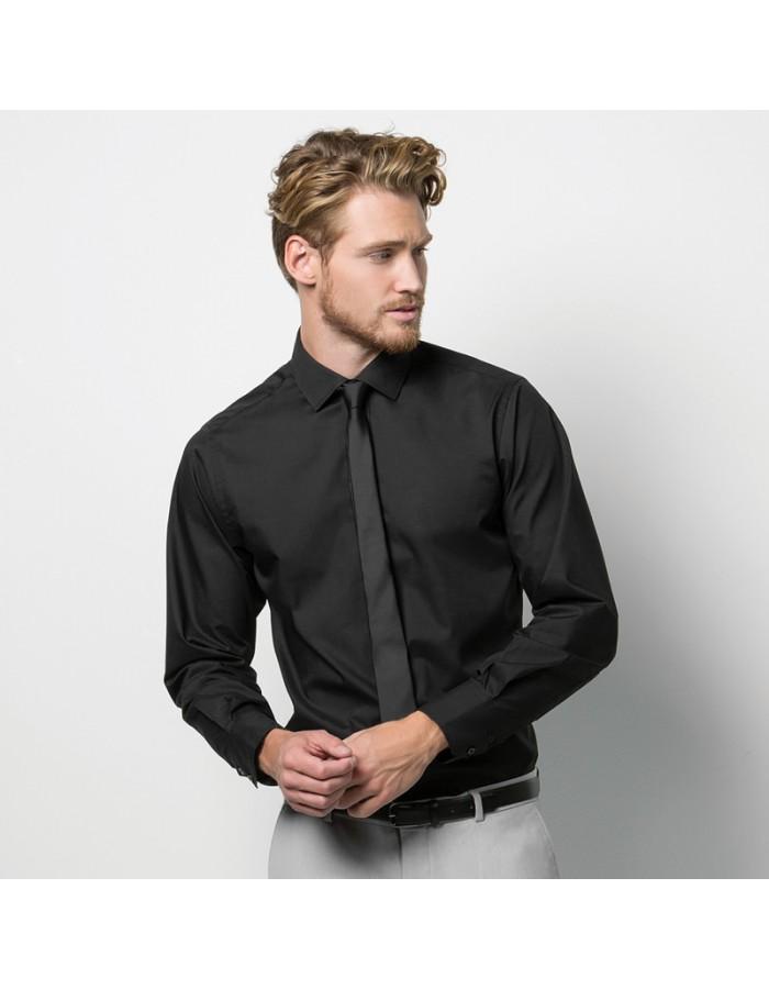 Plain Business Shirt Tailored Fit Kustom Kit 105 GSM