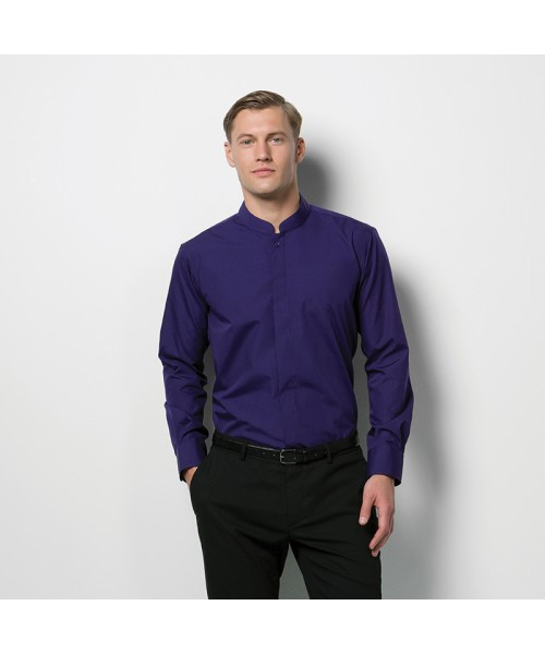 Plain Shirt Mandarin Collar Kustom Kit 115 GSM