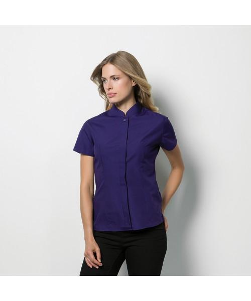 Plain Collar Shirt Short Sleeve Mandarin Kustom Kit 115 GSM