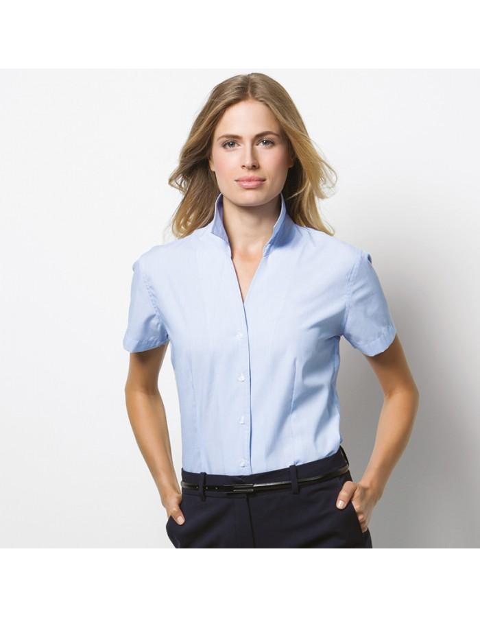 Plain Shirt Pinstripe Short Sleeve Kustom Kit 100 GSM