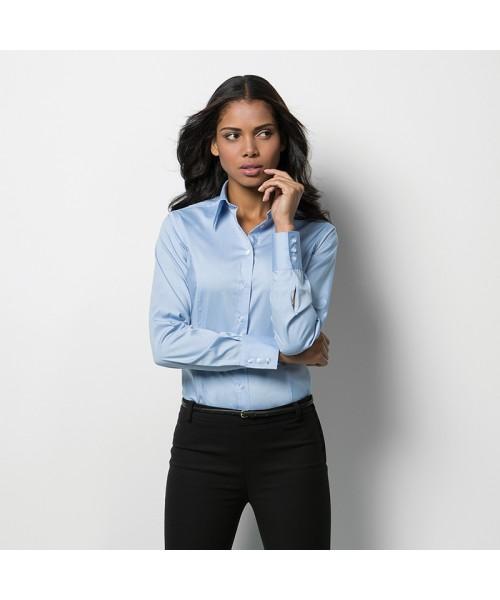 Plain Oxford Shirt Long Sleeve Corporate Kustom Kit 125 GSM