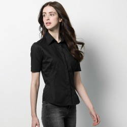 Plain Short Sleeve Shirt Bargear Ladies Kustom Kit 120 GSM