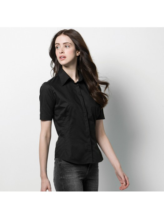 Plain Short Sleeve Shirt Bargear Ladies Kustom Kit 120 GSM