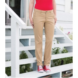 Plain Trousers Ladies Stretch Chino Front Row 220 GSM
