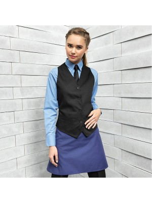 Plain Waistcoat Ladies Hospitality Premier 195 GSM