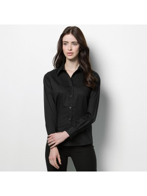 Plain Long Sleeve Shirt Bargear Ladies Kustom Kit 120 GSM