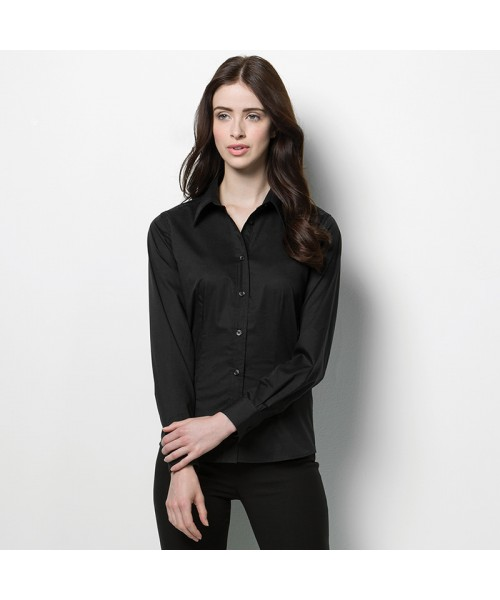 Plain Long Sleeve Shirt Bargear Ladies Kustom Kit 120 GSM