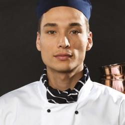 Plain Scarf Chef's Premier black/white check 195 GSM