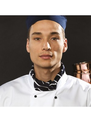 Plain Scarf Chef's Premier black/white check 195 gsm colo GSM