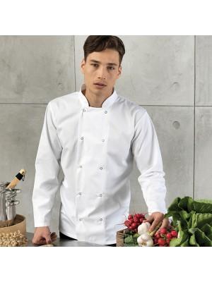 Plain Chef's Jacket Unisex Long Sleeve Premier 195 GSM