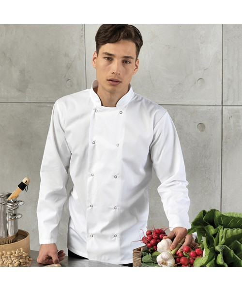 Plain Chef's Jacket Unisex Long Sleeve Premier 195 GSM