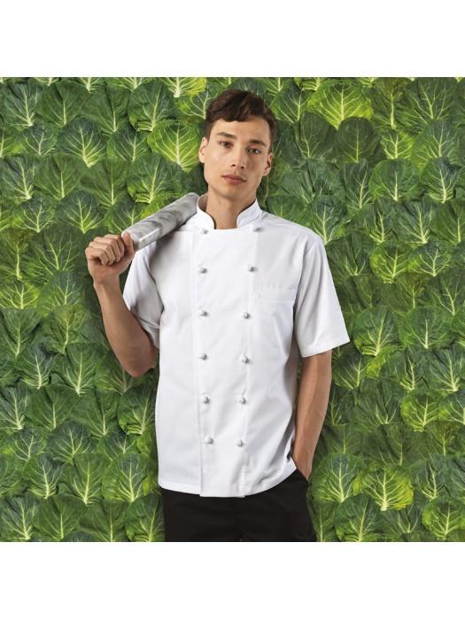 Plain Chef's Jacket Ambassador Short Sleeve Premier 195 GSM