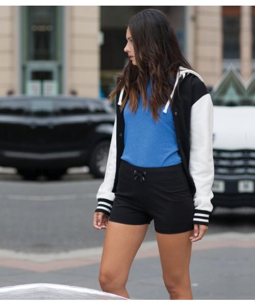 Plain Shorts Womens Skinnifit 220 GSM