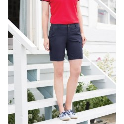 Plain Shorts Ladies Stretch Chino Front Row 220 GSM