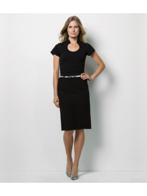 Plain Corporate Top Ladies Keyhole Neck Kustom Kit 200 GSM