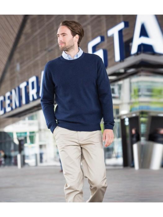 Plain Sweater Lambswool Crew Neck Henbury