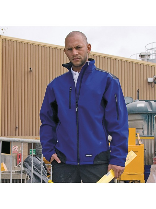 Plain Soft Shell Jacket Ripstop Workwear Result