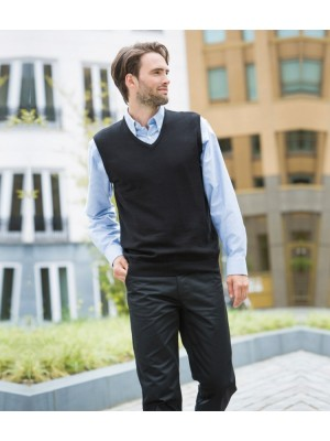 Plain Sweater Lightweight Sleeveless V Neck Henbury 290 gms GSM