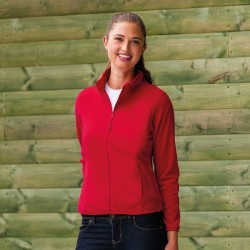 Plain Micro Fleece Jacket Ladies Russell 190 GSM