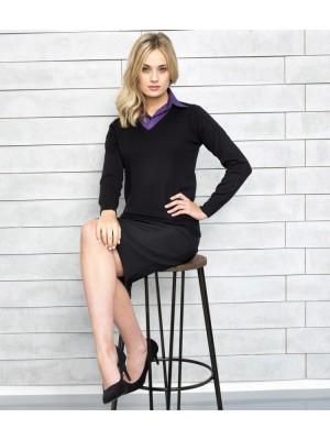 Plain Sweater Ladies Knitted V Neck Premier