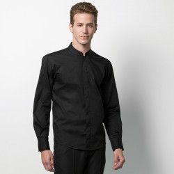 Plain Mandarin Collar Shirt Long Sleeve Kariban 110 GSM