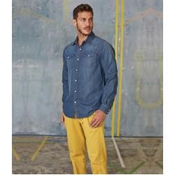 Plain Denim Shirt Short Sleeve Kariban 150 GSM