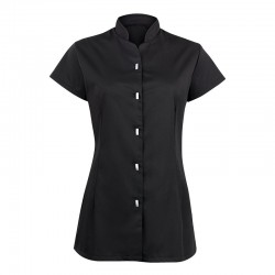 Plain tunic button front Alexandra 195 GSM