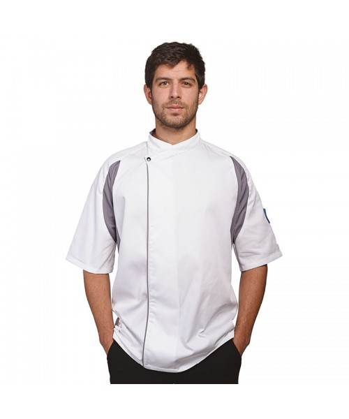 Plain short sleeved tunic Staycool executive Le Chef 200 GSM