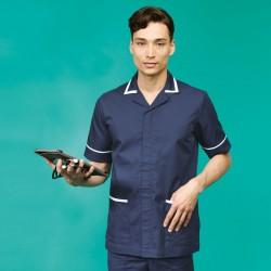 Plain men's healthcare tunic Malvern Premier 195 GSM