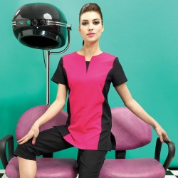Plain beauty and spa panelled tunic Peony Premier 185 GSM