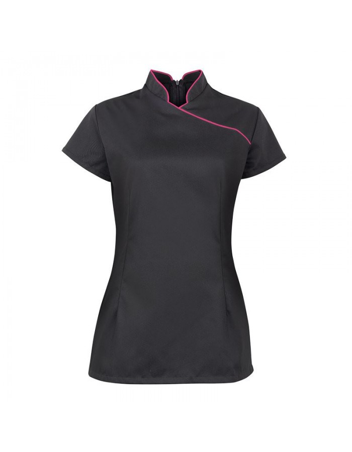 Plain beauty tunic Women's stand collar Alexandra 195 GSM