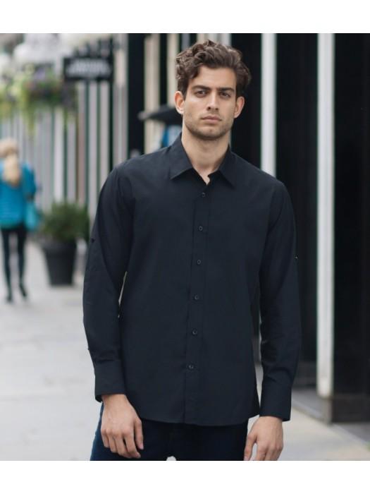 Plain Shirt Roll Sleeve Skinnifitmen 110 gsm GSM