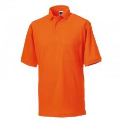 Plain Polo Shirt Pique Russell 215 GSM