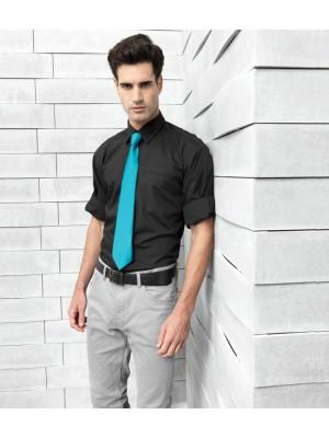 Plain Poplin Shirt Roll Sleeve Premier 105 GSM