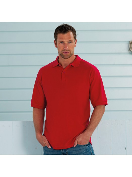Plain Polo Shirt Hardwearing Pique Henbury White 210 gsm Cols 215 GSM