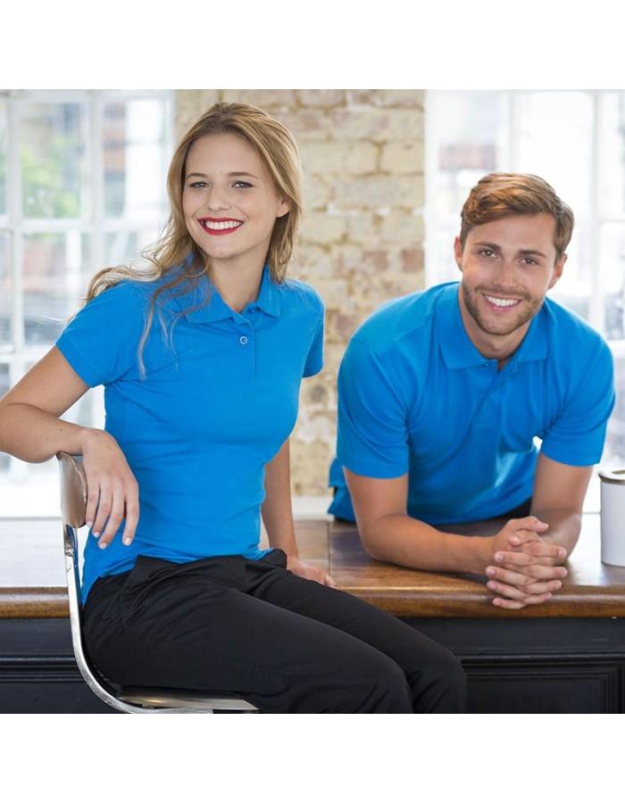 Plain Polo Shirt Stretch Pique Henbury 200 GSM