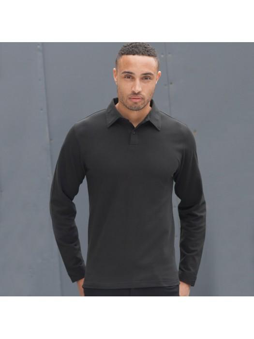 Plain Polo Shirt Long Sleeve Modern Stretch Skinnifitmen 200 GSM