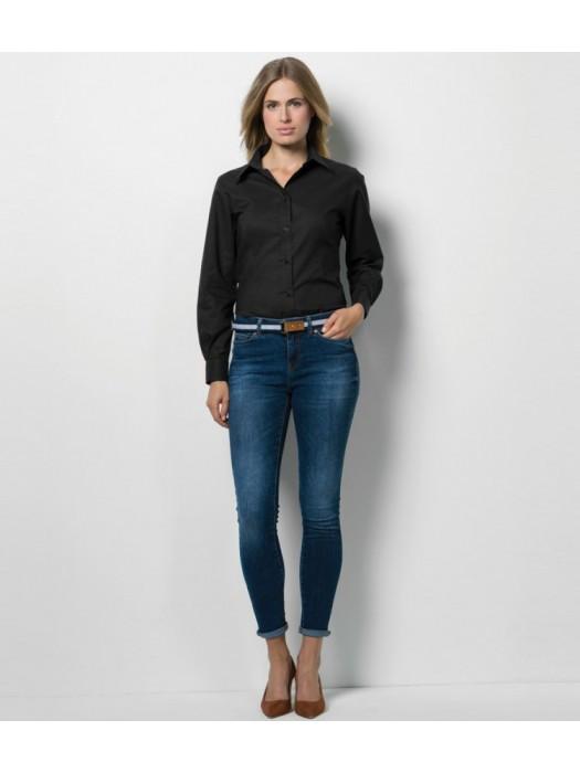 Plain Oxford Shirt Long Sleeve Kustom Kit 135 gsm GSM