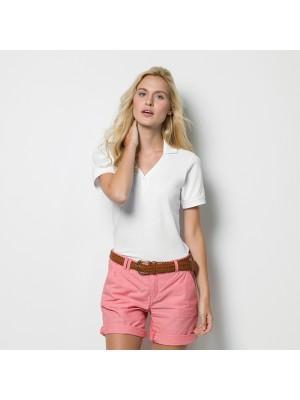 Plain Polo Shirt Sophia Comfortec V Neck Kustom Kit 210 GSM