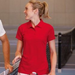 Plain Polo Shirt Lady Fit Performance Fruit of the Loom 140 GSM